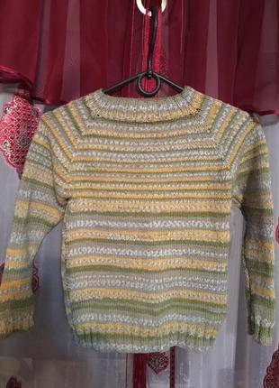 Вязаный свитер на 9-10 лет