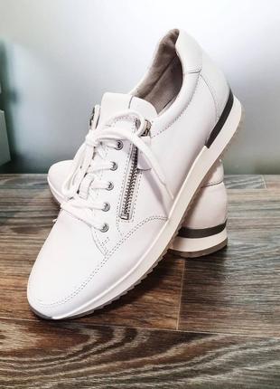 Gabor - белые кожаные сникерсы - 39, 40