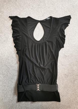 Блуза итальянская черная
