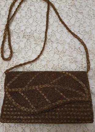 Нарядная сумочка в бисере