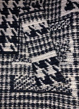 Пальто шерстяное шерсть бочка гусиная лапка принт клетка zara9 фото