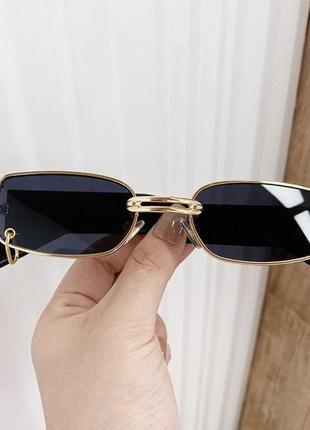 Винтажные очки 2021 с сережкой