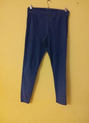 Голубые легкие джинсовые  легинсы marks&spenser раз.18