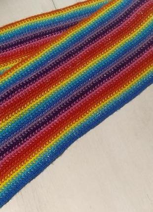 Шарф радуга🌈радужный шарф шарф лгбт гей шарф