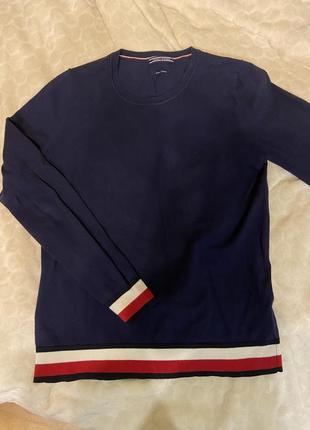 Tommy hilfiger синяя кофта оригинал