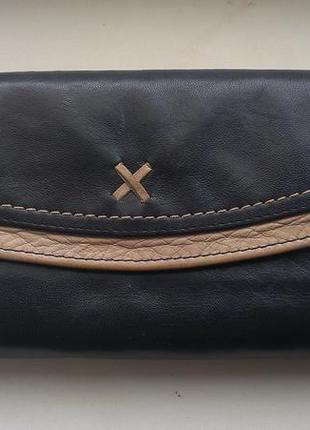 Кожаный кошелек marks & spencer