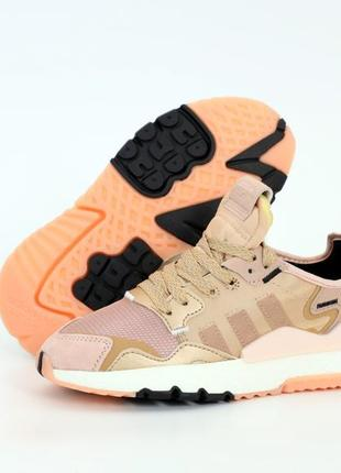 Шикарные женские кроссовки adidas nite jogger наложка
