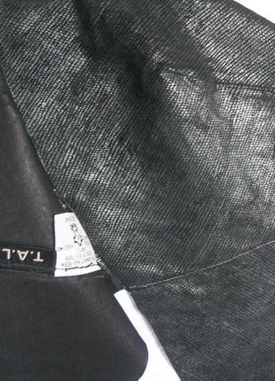 Кожаная бандана байкерская черная напыление питон t.a.l.c.