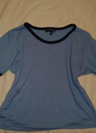 Топ topshop, футболка, голубая футболка, голуба футболка