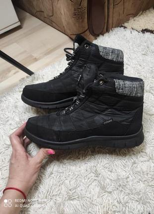 Зимние спортивные теплые дутые ботинки дутики на меху 39 размер на 25 см