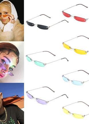 Черные узкие очки