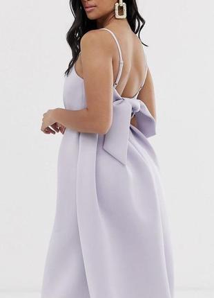 Шикарное вечернее неопреновое платье миди от asos. англия