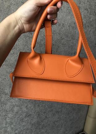 Оранжевая яркая летняя сумка {кольцо в подарок}