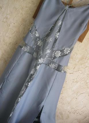 Платье комбинация с кружевом в бельевом стиле с разрезами 12 л