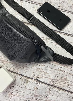 Новая качественная стильна сумка на пояс бананка кожа pu / через плечо / кроссбоди2 фото