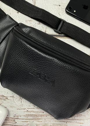 Новая качественная стильна сумка на пояс бананка кожа pu / через плечо / кроссбоди3 фото