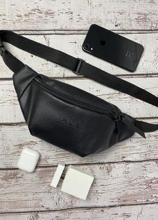 Новая качественная стильна сумка на пояс бананка кожа pu / через плечо / кроссбоди4 фото