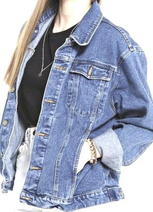 Нереально крутая оверсайз джинсовая куртка от brave soul.