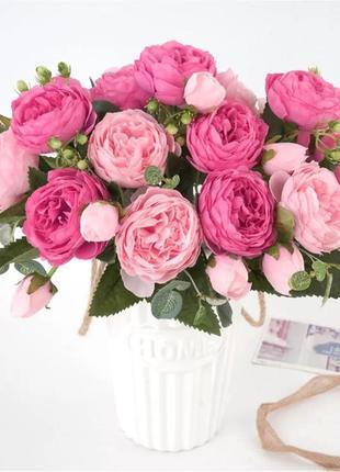 Букет 🌸🌸🌸 пионы чайная роза  искусственные цветы