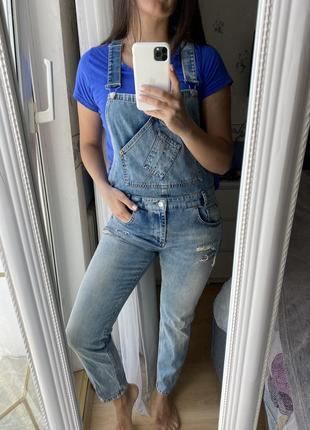 Комбинезон джинсовый pull and bear, м, 28