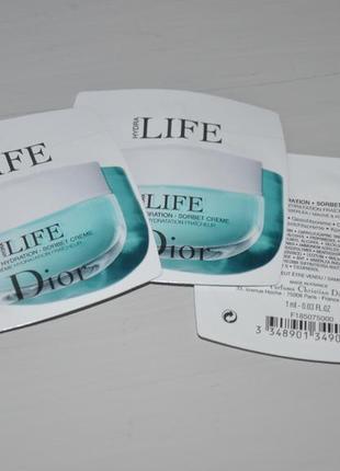 Крем-сорбет для лица dior hydra life fresh hydration sorbet creme пробники по 1ml