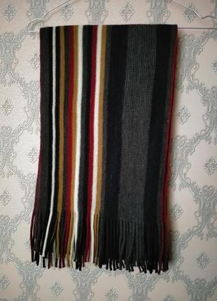 Разноцветный вязаный шарф унисекс