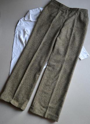 Базовые твидовые прямые брюки высокая посадка   шерсть/шёлк    basler