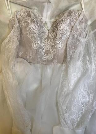 ❤свадебное платье 2021 с кружевом пышное