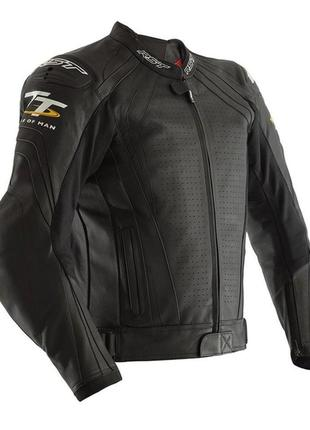 Мотокуртка rst iom tt grandstand ce mens leather jacket black