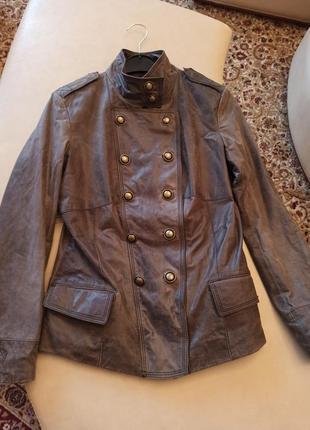 Куртка из натуральной состаренной кожи бренда promod