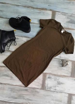 Базовое платье-футболка h&m.