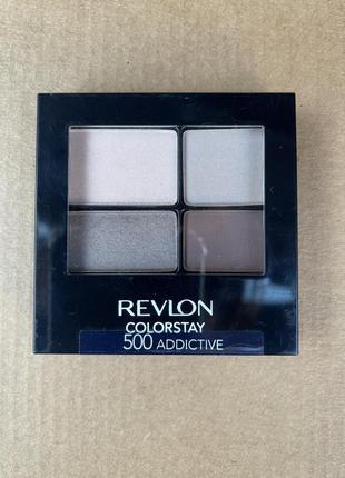 Revlon четырехцветная палетка теней для век colorstay 500