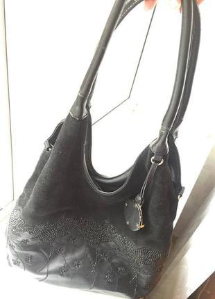 Черная сумка velina fabbiano