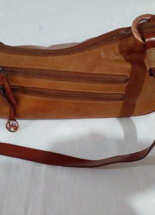 Красивая кожаная сумка багет  b.cavalli