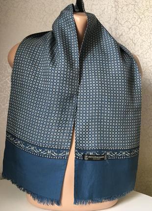 Мужской шёлковый шарф 128*22