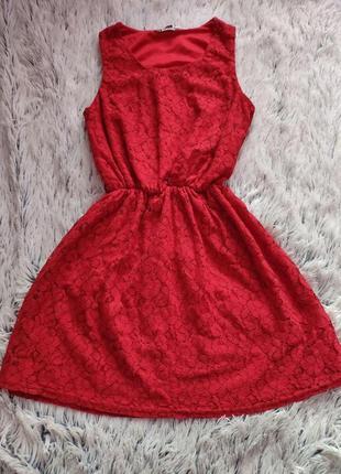 Гипюровое платье (размер s) new look