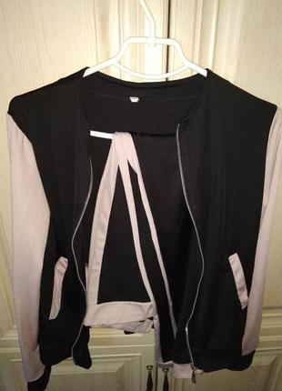 Спортивный костюм двойка лосины и кофта возможен обмен