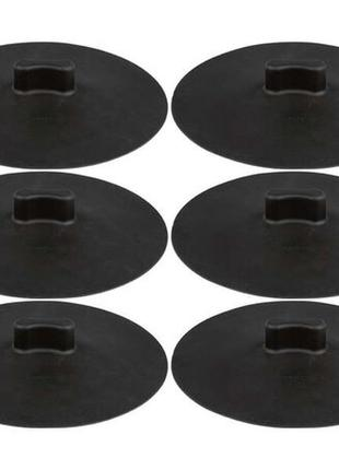 Комплект 6 универсальных силиконовых крышек ernesto термостойкость до 250 ° c