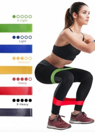 Набор фитнес-резинок loop bands (в комплекте 5 резинок)