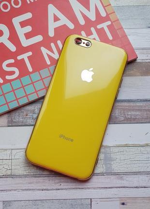 Чехол iphone 6 6s silicone glass case