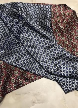 Пара мужских классических шёлковых шарфов.2 фото
