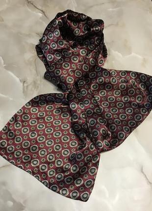 Пара мужских классических шёлковых шарфов.3 фото