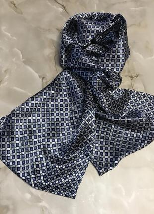 Пара мужских классических шёлковых шарфов.4 фото