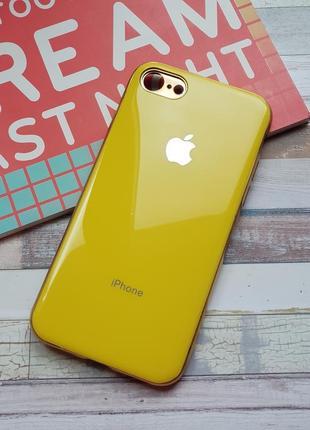 Чехол iphone 7 8 silicone glass case