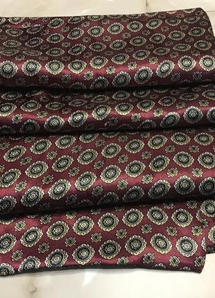 Пара мужских классических шёлковых шарфов.7 фото