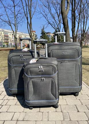 Чемодан на 4 колеса ,текстиль ,валіза ,дорожная сумка