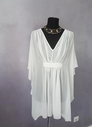 Легкое белое пляжное платье balizza р. s