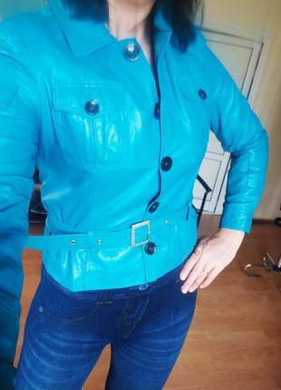 Куртка кожанная женская 46р