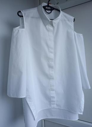 Zara basic collection испания  рубашка белоснежная