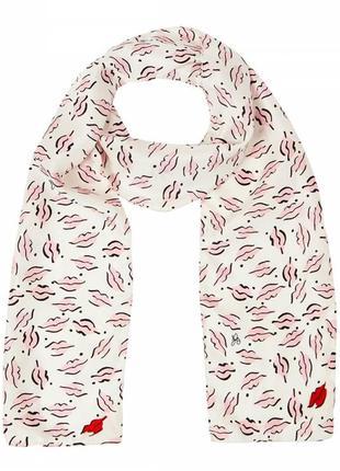 Очень стильный нежный шарфик модель beauty spot от английского бренда lulu guinness london